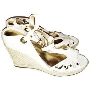 ANTONIO MELANI white wedge heels